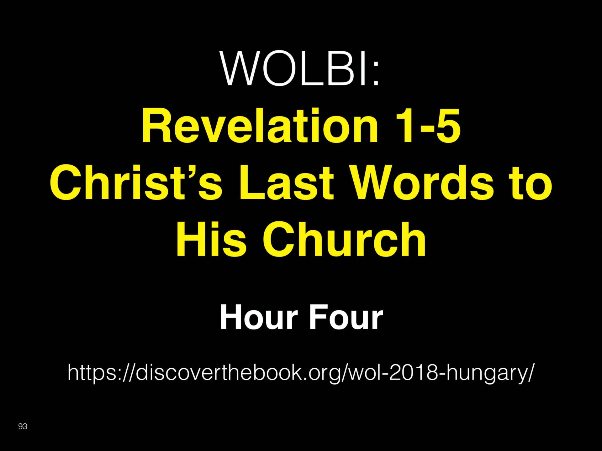 WOL2018 Hungary - 06 - Christ's Last Words To His Church - Being Crucified With Christ (11)