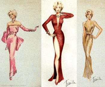 Travilla design sketches