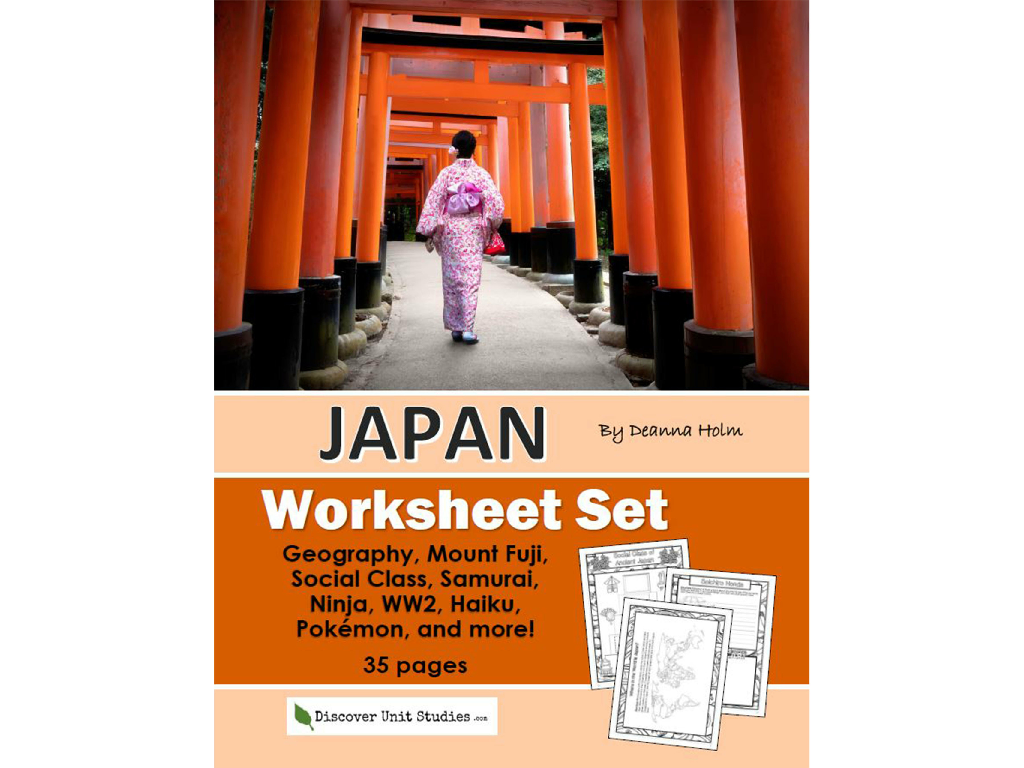 Japan Worksheet Set