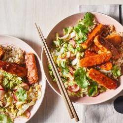 Delicious Korean BBQ Tempeh Grain Bowl