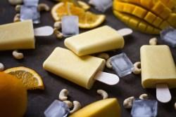 Creamy-mango-cashew-ice-cream-with-soy-yoghurt-and-orange