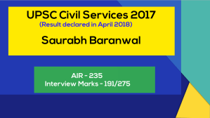 Brilliant IAS Interview Questions and answers Saurabh Baranwal UPSC civil services 2017
