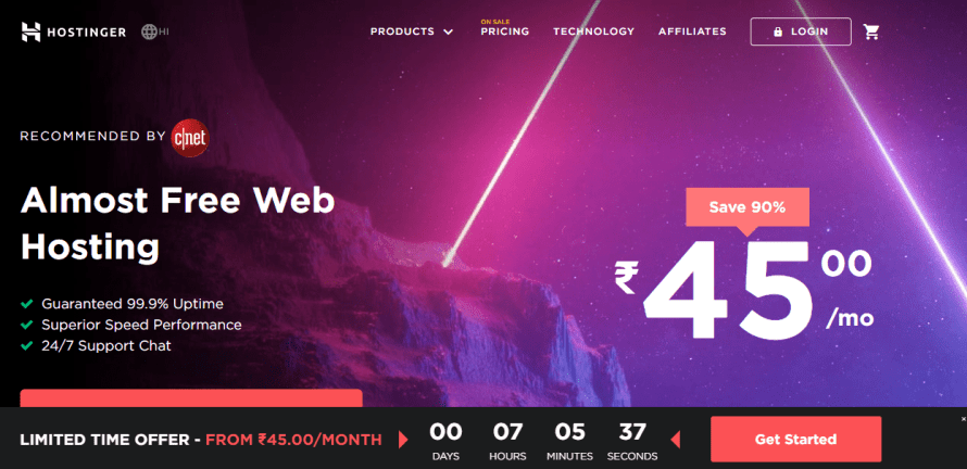 Hostinger India web & wordpress hosting