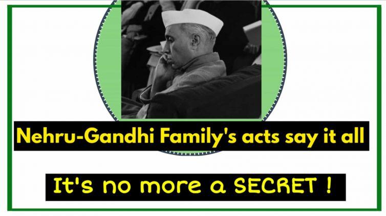 Nehru Gandhi Family chart history anti-hindu, anti-national