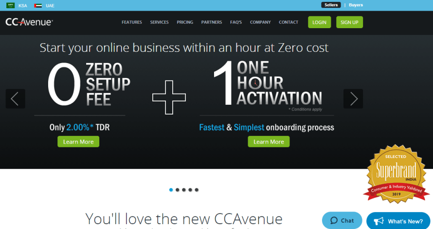 ccavenue best payment gateway in india for small business