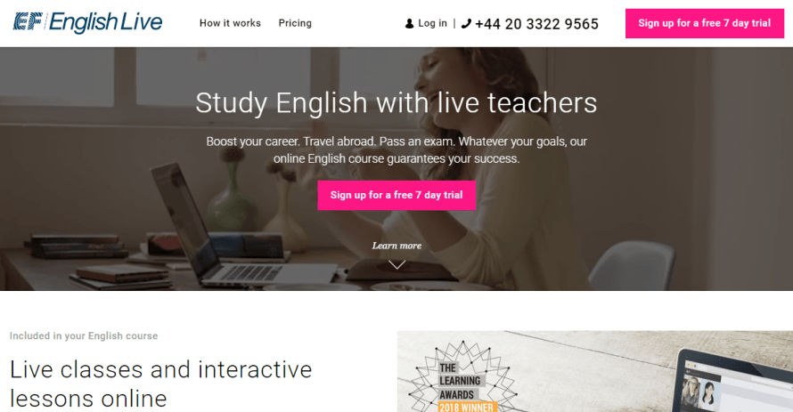 EF English live : learning from live teachers