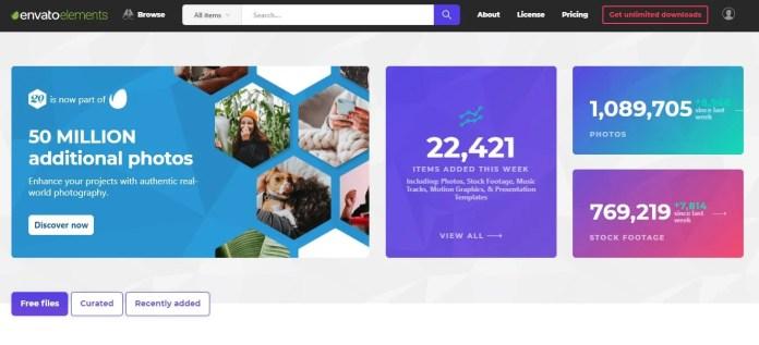 Envato Elements as Shutterstock alternative