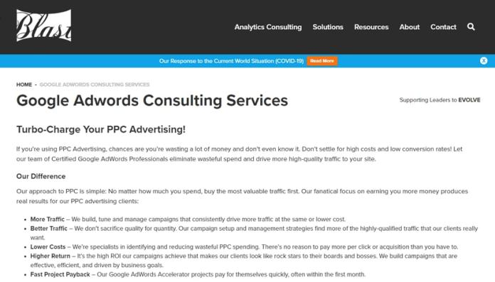 Google AdWords Consulting Services by BlastAnalytics