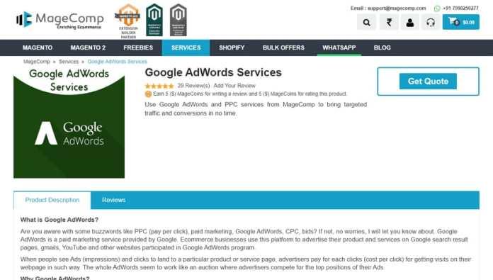 Google Ads & Adwords PPC Management services Magecomp