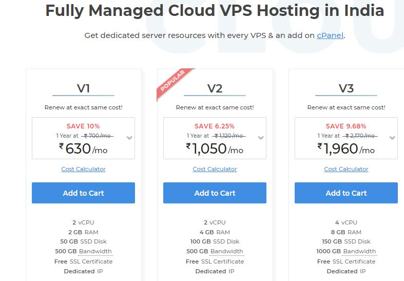 MilesWeb VPS Hosting pricing
