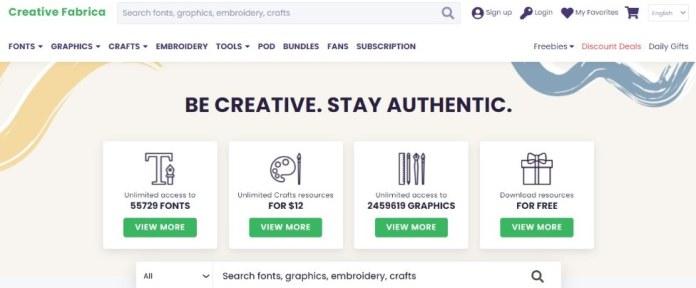 Creative Fabrica as Creative Market alternative
