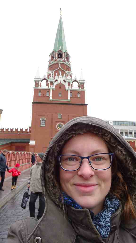 About to enter the Kremlin
