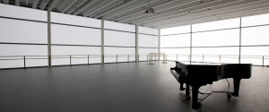 Performance space with piano