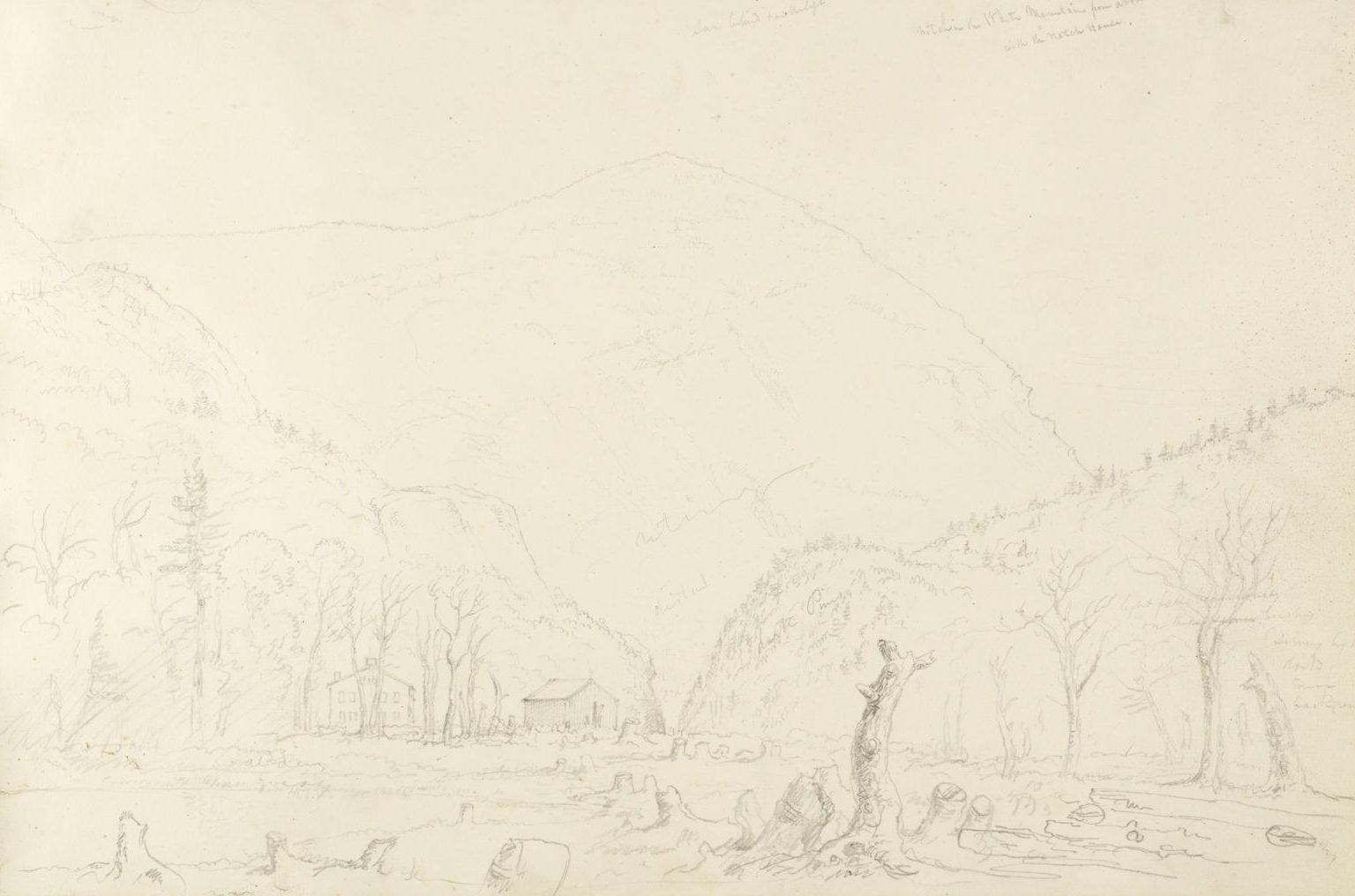 Graphite sketch by Thomas Cole
