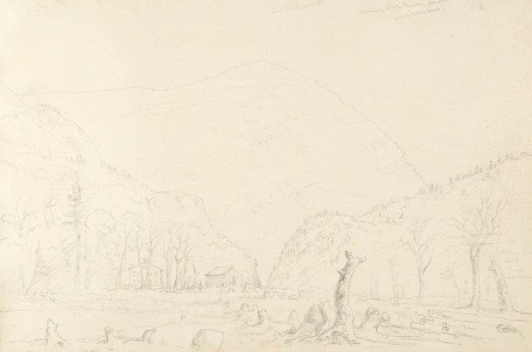 Graphite sketch by Thomas Cole