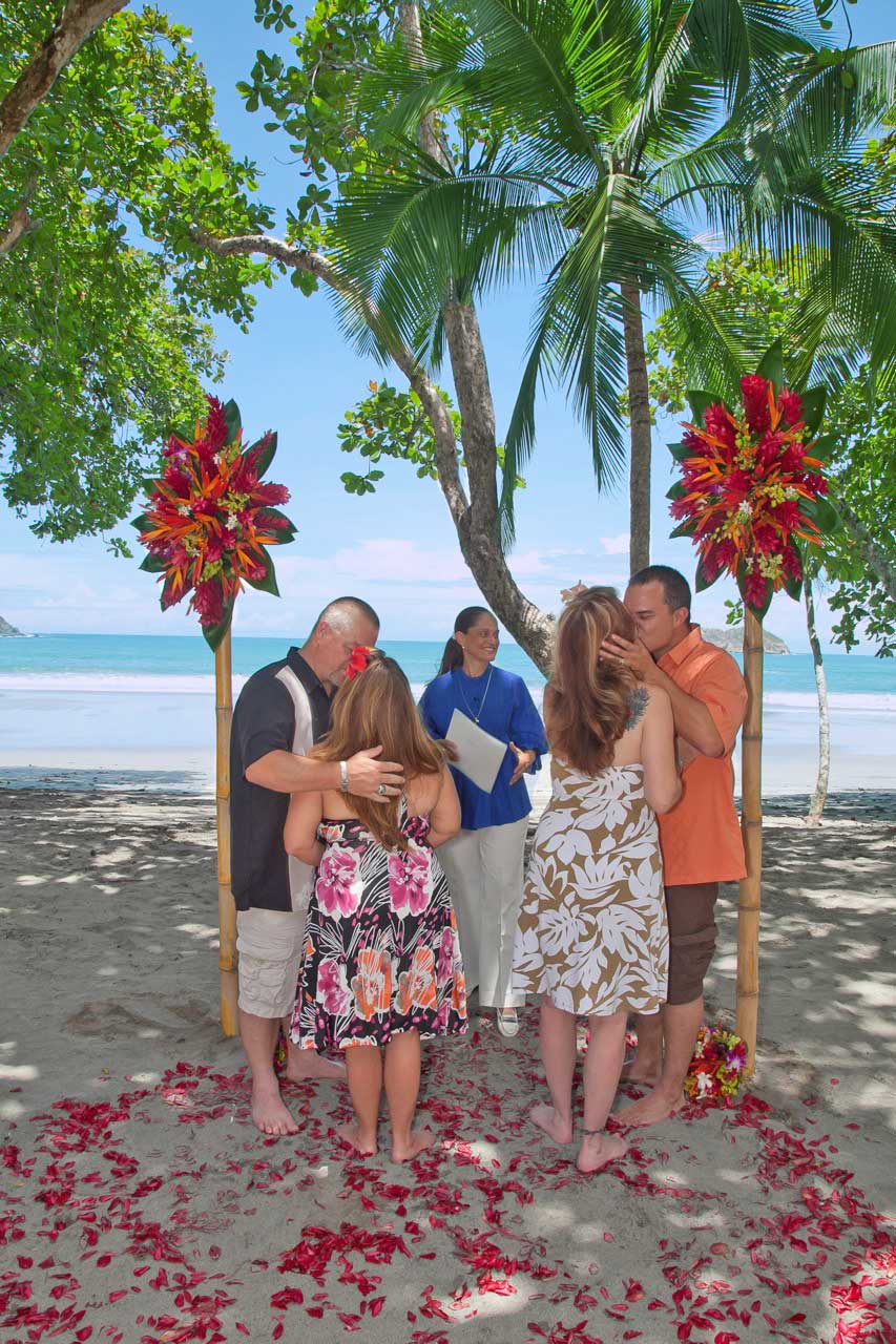Vow Renewal Manuel Antonio Beach Costa Rica