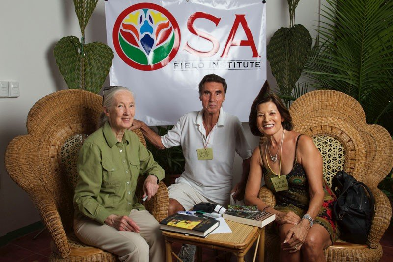 Jane Goodall at the Osa Field Institute
