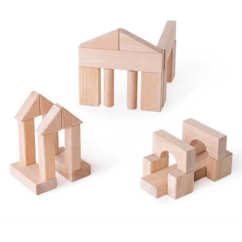 wooden building block for kids-guidecraft wooden unit blocks-3 building samples