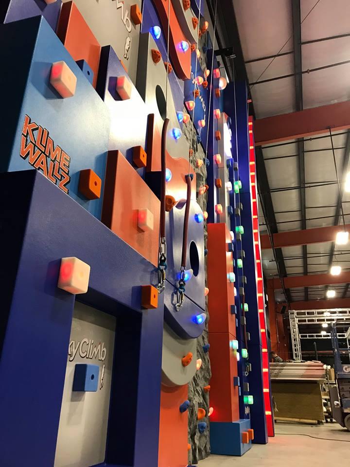 Klime Wallz with blocks custom made rock climbing wall