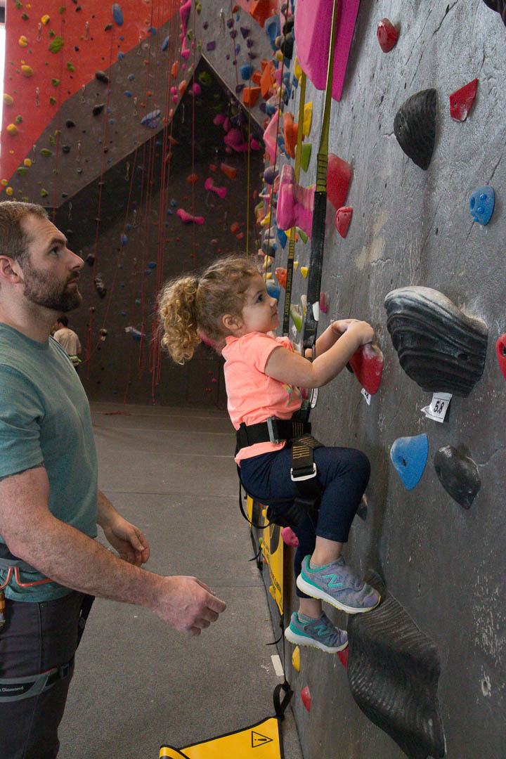 encouraging children to climb and have fun