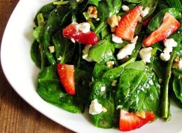Summer-Time Asparagus & Strawberry Spinach Salad