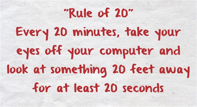 Rule of 20 - blinking