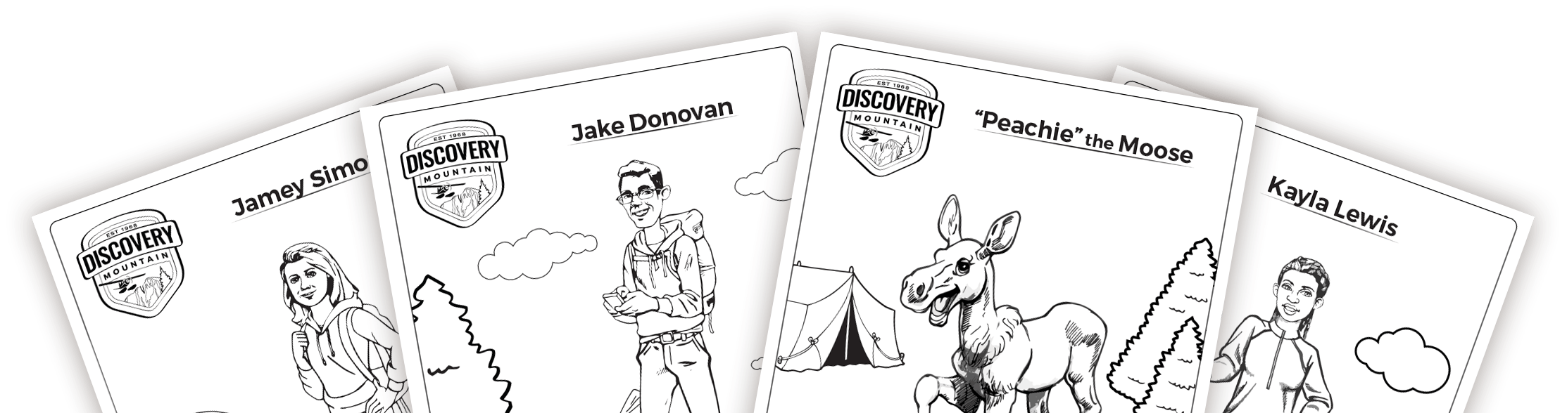 Slide Coloring Pages Discovery Mountain