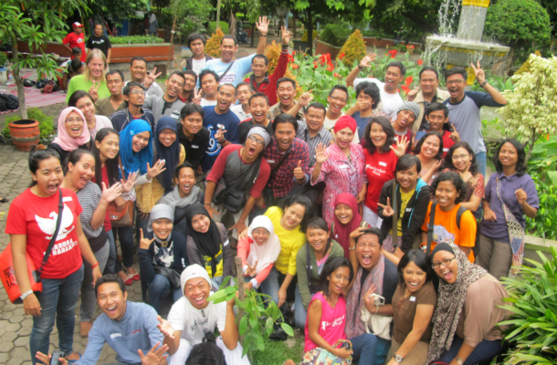 gathering backpacker