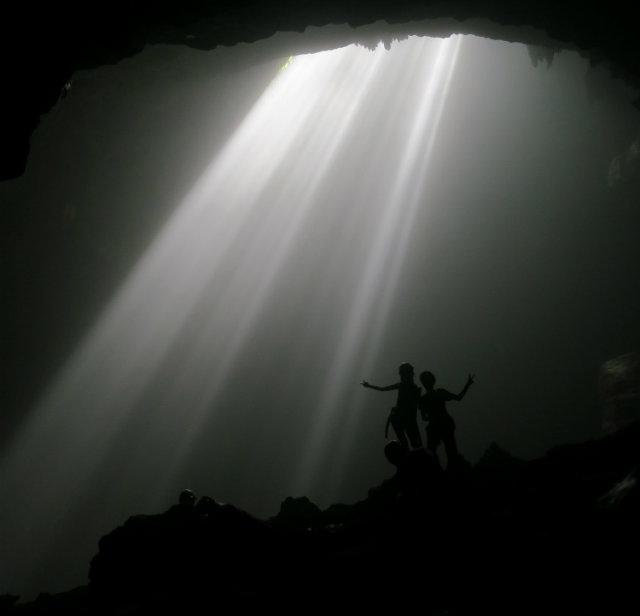 grubug cave jogja light