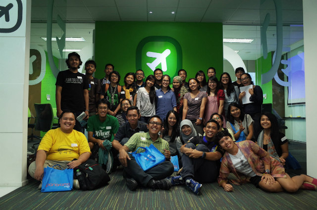 travel and blog participants at Wego Indonesia