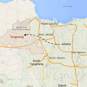 map Tangerang Discover Your Indonesia