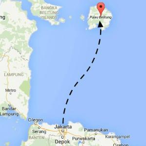 map belitung
