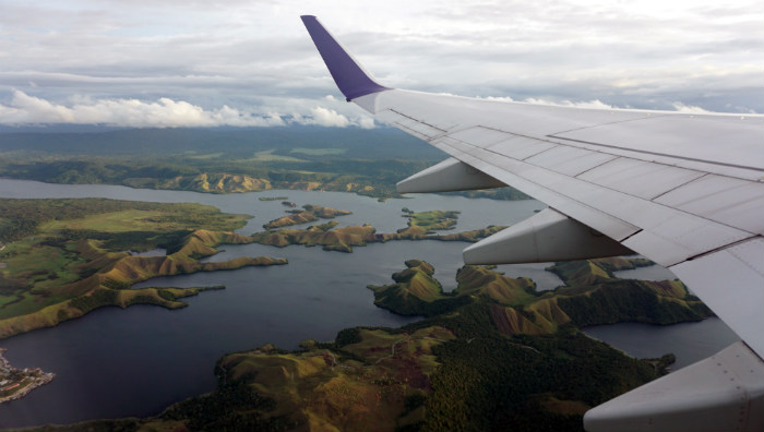 Sentani lake from above