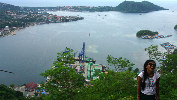 Jayapura city from above