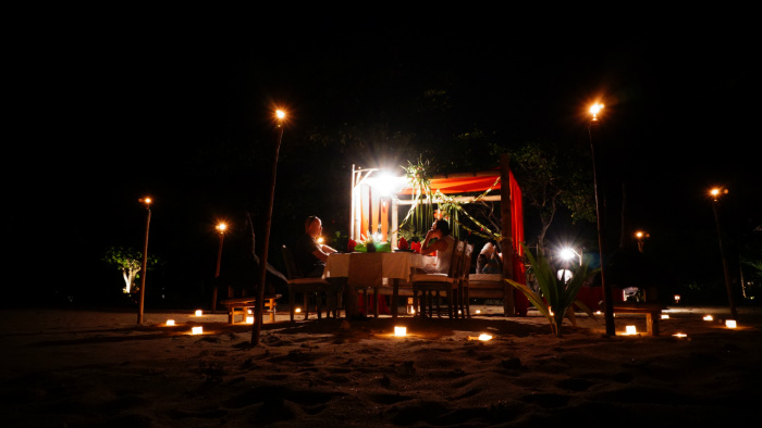 dinner by the beach by Tugu lombok