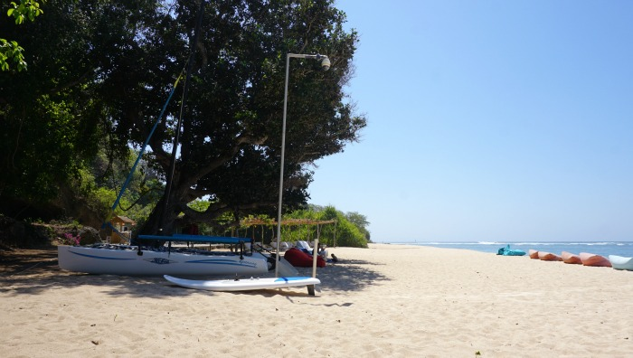 private beach of Samabe Bali