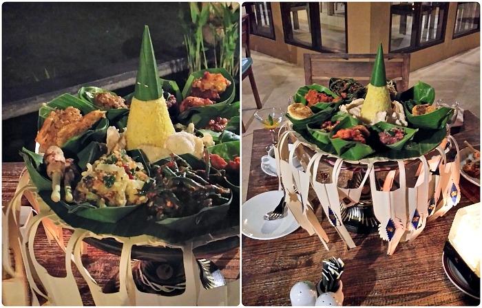 Bali rijsttafel in bali resort