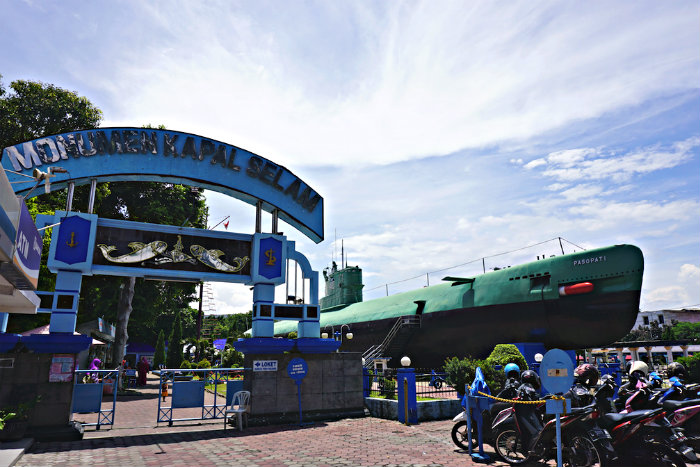 The Monkasel Submarine saw service in the Indonesian navy in the 1950's. It is now a tourist attraction in the centre of Surabaya.