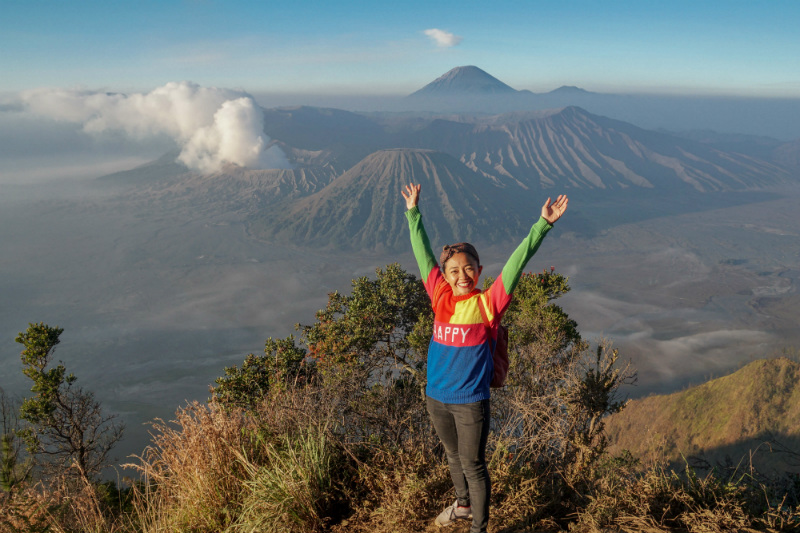 sunrise viewpoint in Bromo National Park
