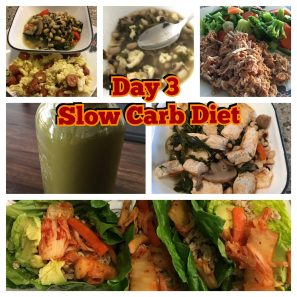 Slow Carb Diet Day 3 Meal plan