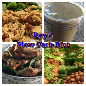 Slow Carb Diet day 4 get fit