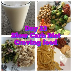 Tuesday day 23 Slow Carb Diet