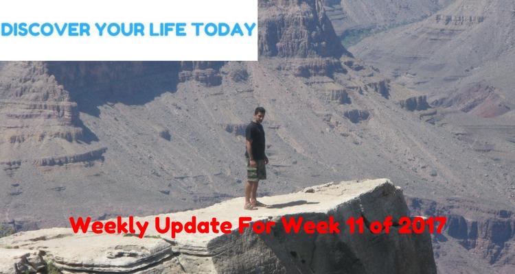 Weekly Update For Week 11 of 2017