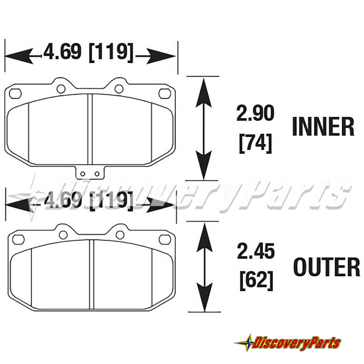 G Loc Gp460 Race Pads For Nissan 300 Zx Front Caliper