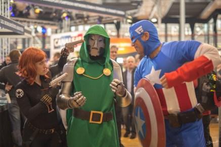 Black Widow, Dr Doom, Captain America