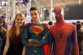 Harley Quinn, Superman et Spiderman