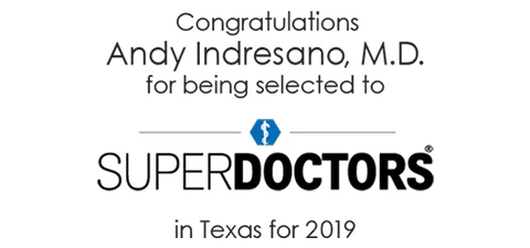 Andy Indresano selected to SuperDoctors 2019