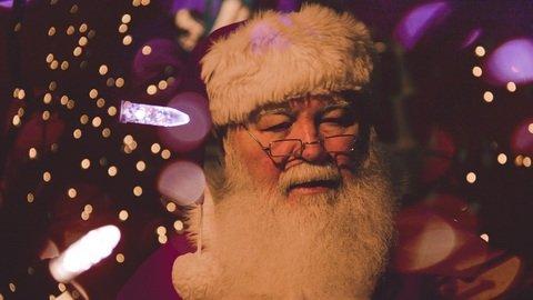 Papa noel en navidad