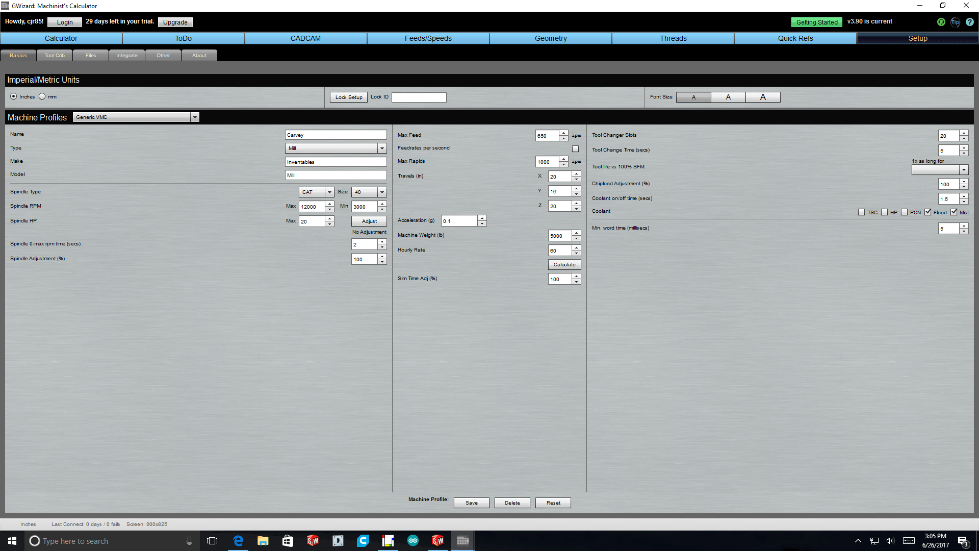 Carvey Settings For Gwizard