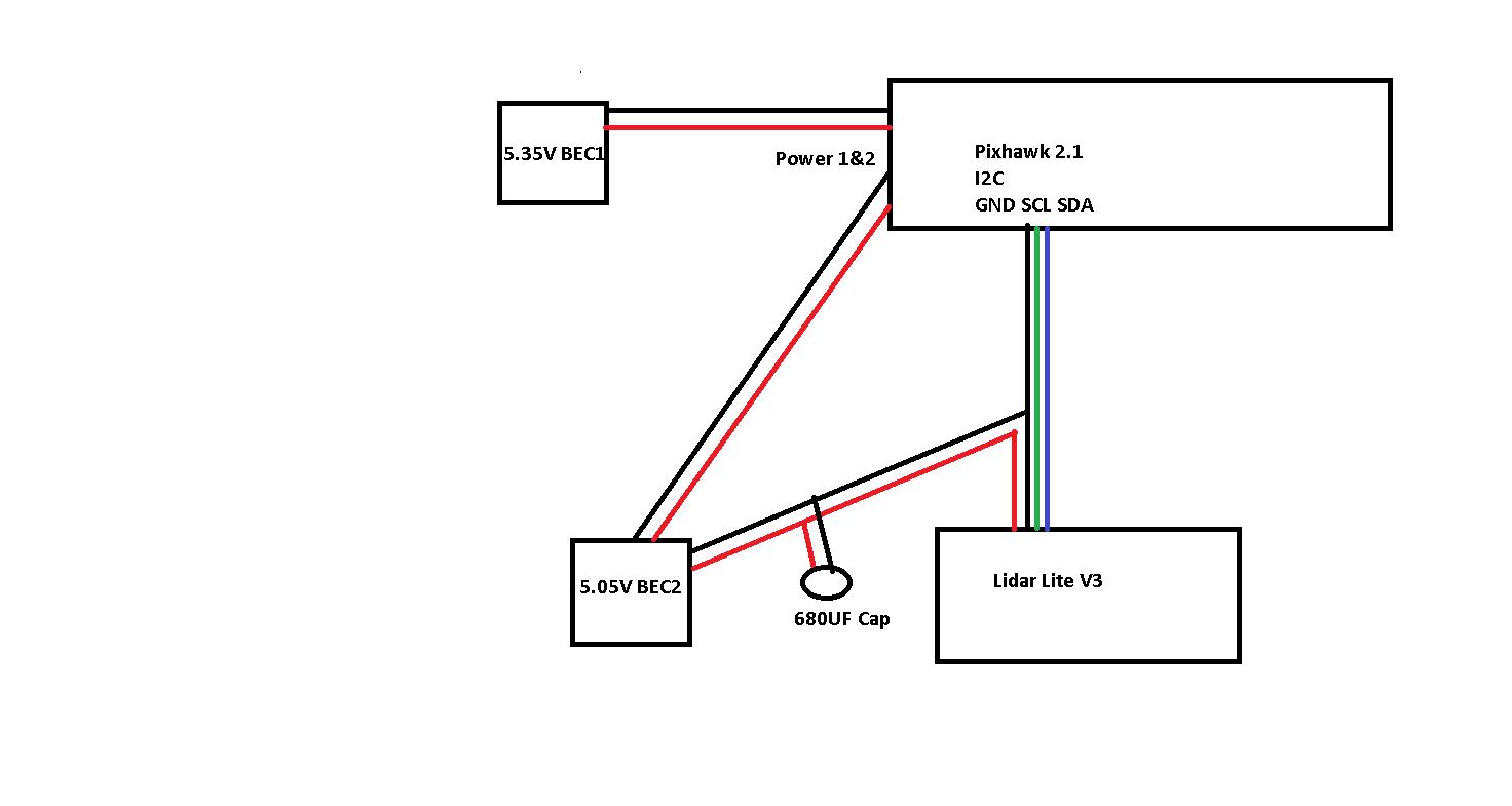 Lidar Lite V3 On I2c Pixhawk 2 1 Setup
